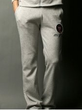 Hit Hot Embroidery Drawstring Tie Pants With Pockets