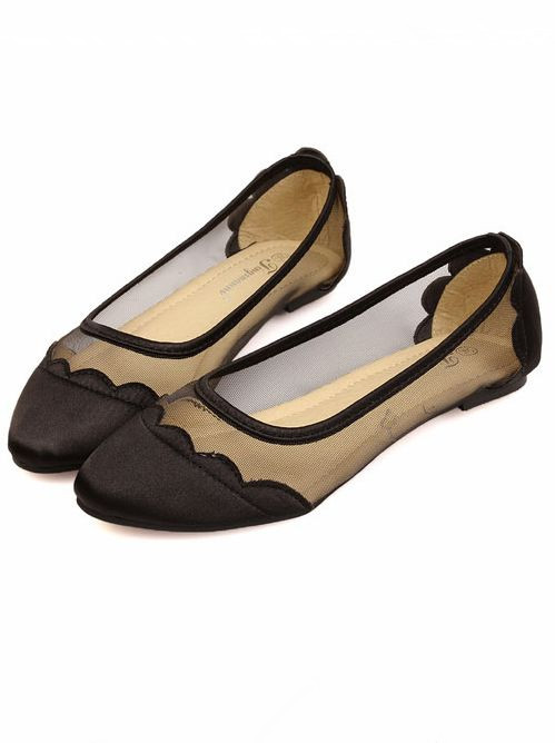Pretty Girls Trendy Pointing Toe Cozy Flat Shoes
