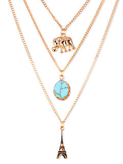 Customized Animal Multilayer Pendant Necklace