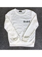 Wholesale Babe Printed O Neck Sweatshirt For Women