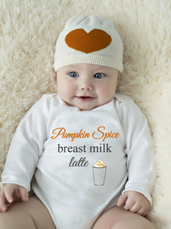 New Arrival Letter Coffee Print Baby White Romper