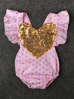 Hot Selling Sequin Onesie For Girls