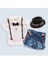 Shirts With Denim Shorts Kids Suits