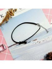 Cheap Black Bow Pearl Star Necklace