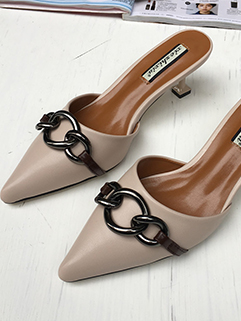 Solid Pointed Toe Flats For Girls