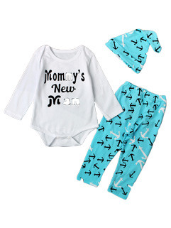 Letter Print Long Sleeve Baby Sets
