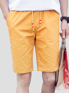 Casual Style Solid Color Men Shorts