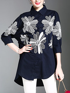European Style Embroidery Blouses