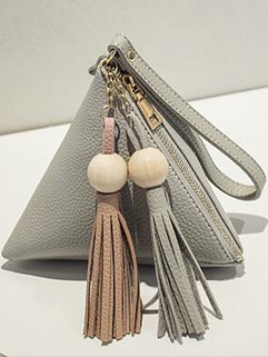 Hot Selling Tassel Fringe Triangle Clutch Bag