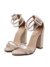 Euro Style Transparent Chunky Sandals