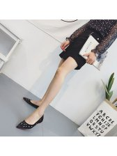 Summer Diamonds Sequined Pointed Toe Flats