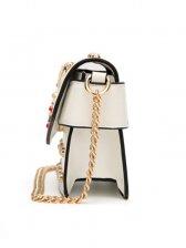 Stylish Chain Strap Pearl Beading Bee Bag