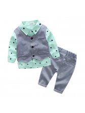 UK Style Waistcoat &Shirt &Pants Baby Boys Suit(3-4 Days Delivery)