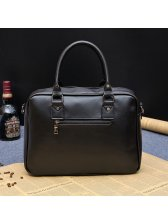 Solid Zipper Computer Business Briefcase For Men