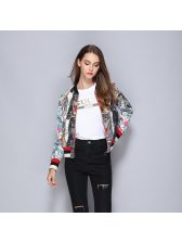 Fashion Tiger Pattern Color Contrast Coat