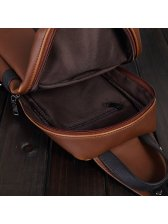 Color Matching Zipper Leather Small Shoulder Bags