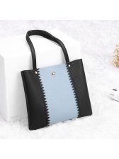 Lovely Contrast Color Mini Handle Bag