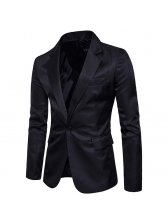 Korean Style Solid One Button Fitted Cheap Suit