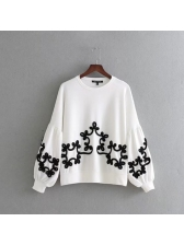 All Match O Neck Pullover Loose Sweatshirt(3-4 Days Delivery)
