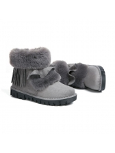 Sweet Ruffles Fringed Fluffy Snow Boots