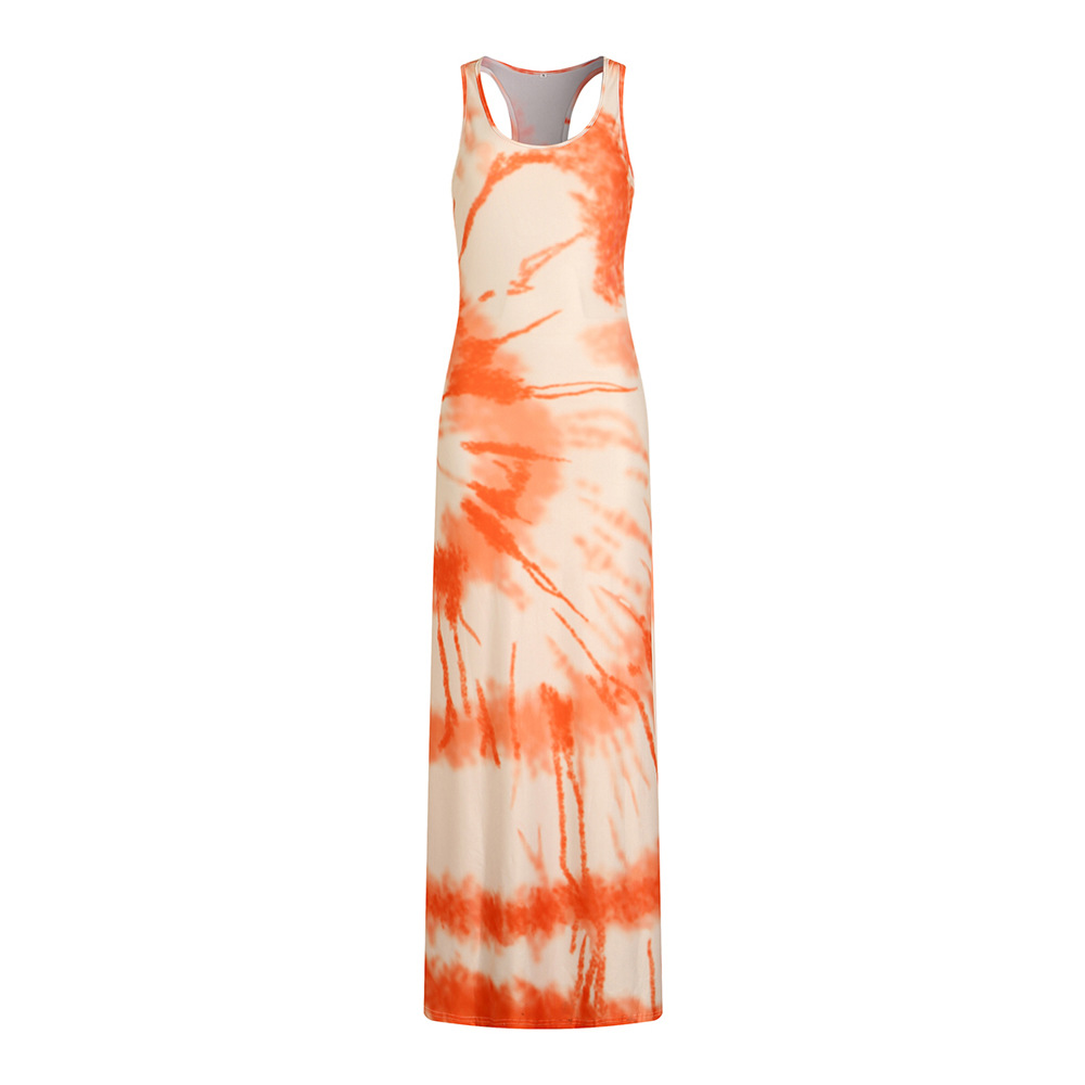 Newly Outfit Printing Floor Length Dress for Women