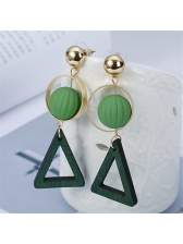 Korean Geometric Design Personality Earrings