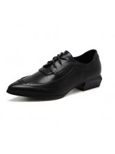 European Style Sharp Toe Lace Up Shoes