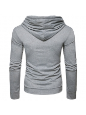 All Matching Leisure Style Pullover Hoodies Men