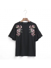 All Match O Neck Embroidered T Shirt (3-4 Days Delivery)