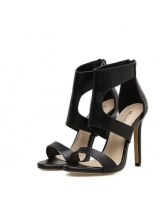 Hollow Out Zip Back Stiletto Sandals