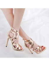 Stylish Eye-catching Hollow Out Stiletto Sandals