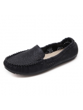 Hollow Out Round Toe Women Flats