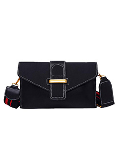 Newly Nubuck Hasp Stripe Shoulder Bag