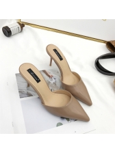 Euro Fashion Pointed Toe Stiletto Slippers