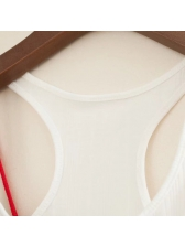 All Match U Neck Patchwork Tank One Piece Design (3-4 Days Delivery)