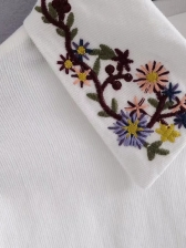 Embroidered Single Breasted Corduroy Shirt (3-4 Days Delivery)
