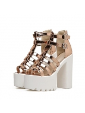 High Heel Chunky Ankle Straps Sandals for Woman