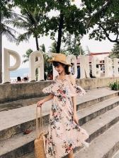Summer Fashion Straps Off The Shoulder Chiffon Dresses