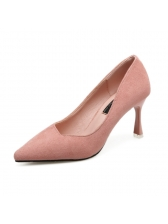 Solid Color Pointed Toe Stiletto Pumps Ladies