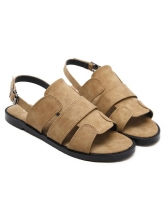Solid Color Hollow Out Letter Printing Beach Sandals