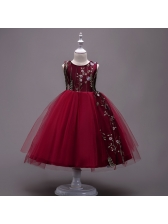 Sweet Fashion Embroidery Ball Gown Performance Dresses