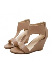 New In Peep-toe Wedge Sandals