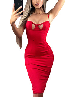 Sexy Low Cut Hollow Out Wrap Solid Dresses(3-4 Days Delivery)