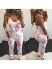 Summer Style Floral Printing Straps 2 Pieces Outfit