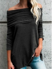 Hot Selling New Boat Neck Crease Tee