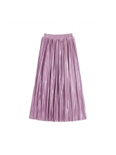 European Style Elegant Temperament Pure Color Skirts