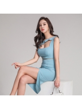 Korean New Hollow Out High Waist Night Dresses
