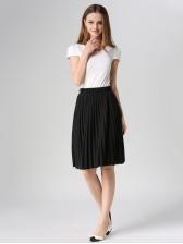 Euro Chic Style Chiffon Pleated Short Skirt