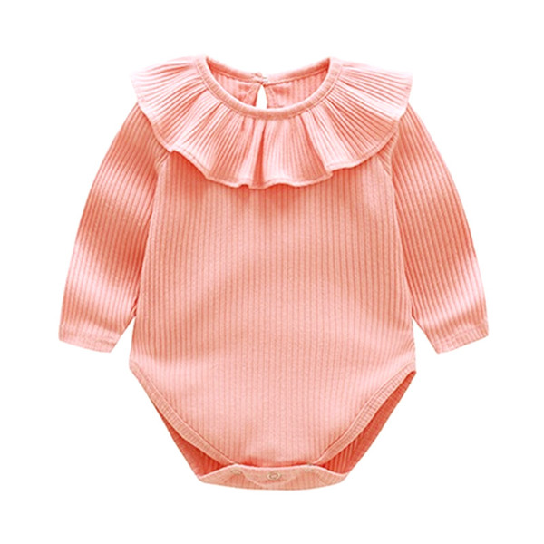 New Arrival Ruffles Solid Infant Rompers