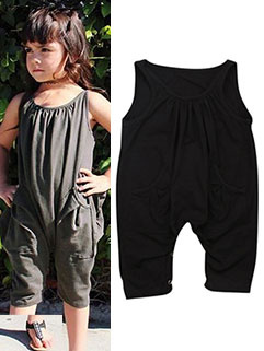 Sleeveless Solid Fashion Baby Rompers